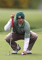 22 May, 2010:   Loyola Colleges Jay Mulieri lines up his shot on hole ten during day three of the first round of the NCAA West Regionals at Gold Mountain Golf course in Bremerton, WA.