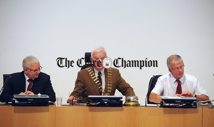 Councillor Christy Curtin at council buildings on Monday following his election as Mayor of Clare. Photograph by Declan Monaghan