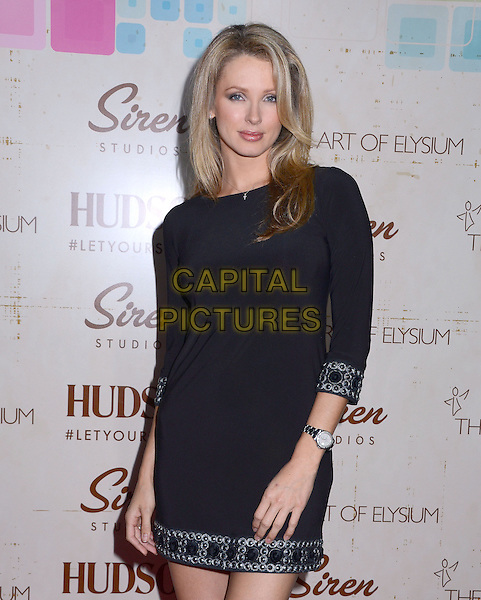 Shandi Finnessey<br /> Celebrity arrivals at The Art of Elysium's fifth annual GENISIS at Siren Studios Cube in Hollywood, CA, USA, 20th September 2013.<br /> half length black dress long sleeve trim <br /> CAP/ADM/BT<br /> &copy;Birdie Thompson/AdMedia/Capital Pictures