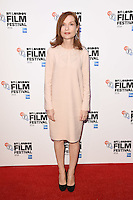 LONDON, UK. October 8, 2016: Isabelle Huppert at the London Film Festival premiere for &quot;Elle&quot; at the Embankment Gardens Cinema, London.<br /> Picture: Steve Vas/Featureflash/SilverHub 0208 004 5359/ 07711 972644 Editors@silverhubmedia.com