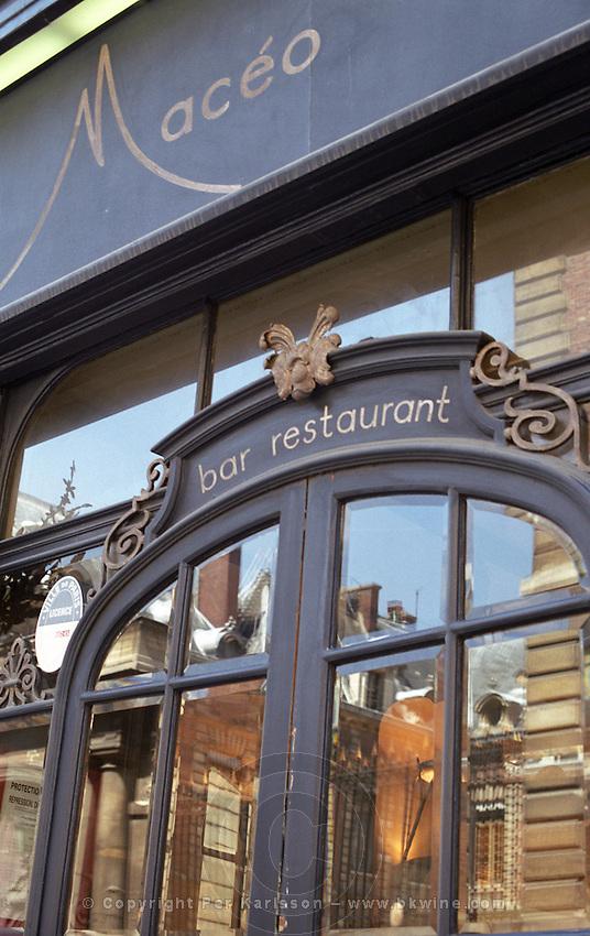 Restaurant Maceo on Rue de Petits Champs in Paris Paris, France.