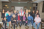 NIGHTOFF: Staff and friends of Dan Horan who had a ball at the Elvis and DJ Curtin Christmas Show and Dinner in The Earl of Desmond Hotel, Tralee on Saturday night..... . ............................... ..........