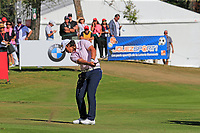 Gavin Green (MAS) plays his 2nd shot on the 17th tee during Sunday's Final Round 4 of the 2018 Omega European Masters, held at the Golf Club Crans-Sur-Sierre, Crans Montana, Switzerland. 9th September 2018.<br /> Picture: Eoin Clarke | Golffile<br /> <br /> <br /> All photos usage must carry mandatory copyright credit (&copy; Golffile | Eoin Clarke)