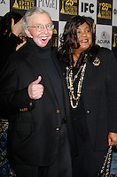 US film critic Roger Ebert and his wife arrive at the 25th Independent Spirit Awards held at the Nokia Theater in Los Angeles on March 5, 2010. The Independent Spirit Awards is a celebration honoring films made by filmmakers who embody independence and originality..Photo by Nina Prommer/Milestone Photo