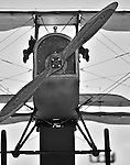 Black and white old bi-plane