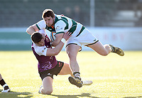 James Cordy-Redden of Ealing Trailfinders takes on the Cornish Pirates defence. RFU Championship Cup match, between Ealing Trailfinders and Cornish Pirates on February 24, 2019 at the Trailfinders Sports Ground in London, England. Photo by: Patrick Khachfe / Onside Images