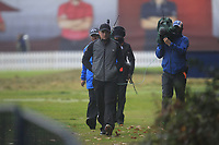 Eddie Pepperell (ENG) walking to the 1st tee during Round 4 of the Sky Sports British Masters at Walton Heath Golf Club in Tadworth, Surrey, England on Sunday 14th Oct 2018.<br /> Picture:  Thos Caffrey | Golffile<br /> <br /> All photo usage must carry mandatory copyright credit (&copy; Golffile | Thos Caffrey)
