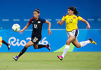 Manaus, Brazil - August 9, 2016:  The USWNT tied Colombia 2-2 during their final group game of the 2016 Olympic games at Amazonia Arena.