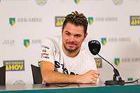 Rotterdam, The Netherlands, 14 Februari 2019, ABNAMRO World Tennis Tournament, Ahoy, Press Conference, Stan Wawrinka (SUI),<br /> Photo: www.tennisimages.com/Henk Koster