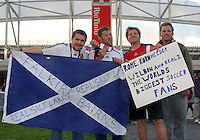 Fans of Real Salt Lake before the New York Red Bulls @ Real Salt Lake 1-1 draw at Rio Tinto Stadium in Sandy, Utah on October 9, 2008. Photo by Julia Fizer/isiphotos.com