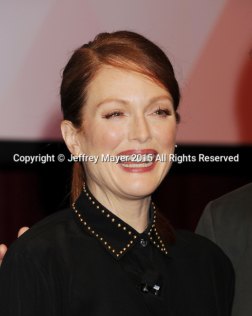 LAS VEGAS, NV - APRIL 23: Actress  Julianne Moore poses at the 2015 CinemaCon - Julianne Moore And Jay Roach Photo Call at Caesar's Palace Resort and Casino on April 23, 2015 in Las Vegas, Nevada.