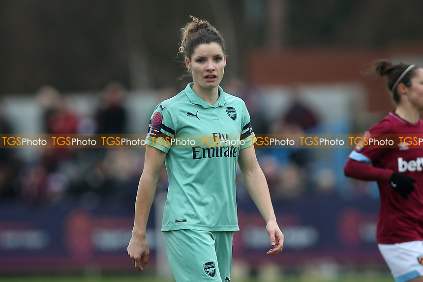 Dominique Bloodworth of Arsenal during West Ham United Women vs Arsenal Women, FA Women's Super League Football at Rush Green Stadium on 6th January 2019