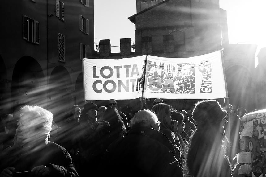 Bologna 11 marzo 2017. Quranta'anni dopo gli autonomi e i movimenti studenteschi ricordano la morte di Pier Francesco Lorusso ucciso da un Carabiniere durante gli scontri del 1977.
