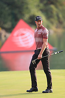 Henrik Stenson (SWE) on the 18th green during the 2nd round of the WGC HSBC Champions, Sheshan Golf Club, Shanghai, China. 01/11/2019.<br /> Picture Fran Caffrey / Golffile.ie<br /> <br /> All photo usage must carry mandatory copyright credit (© Golffile   Fran Caffrey)
