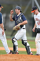 February 22, 2009:  Catcher Chris Montgomery (41) of the University of Illinois during the Big East-Big Ten Challenge at Naimoli Complex in St. Petersburg, FL.  Photo by:  Mike Janes/Four Seam Images