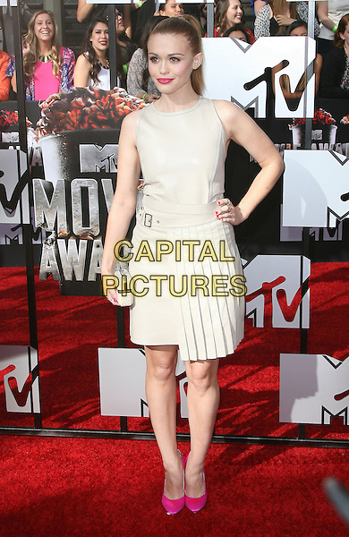 13 April 2014 - Los Angeles, California - Holland Roden. 2014 MTV Movie Awards held at Nokia Theatre L.A. Live. <br /> CAP/ADM<br /> &copy;AdMedia/Capital Pictures
