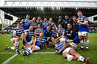 Bath Rugby first team coach Toby Booth with various players after the match. Gallagher Premiership match, between Leicester Tigers and Bath Rugby on May 18, 2019 at Welford Road in Leicester, England. Photo by: Patrick Khachfe / Onside Images