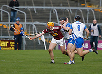 2nd February 2020; TEG Cusack Park, Mullingar, Westmeath, Ireland; Allianz Division 1 Hurling, Westmeath versus Waterford; Niall Mitchell (Westmeath) keeps possession of the ball under pressure