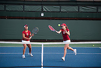 Kristie Ahn (L) and Nicole Gibbs (R) of the 2010 Stanford women's Tennis Team.