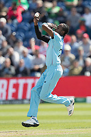 Jofra Archer (England) during England vs Bangladesh, ICC World Cup Cricket at Sophia Gardens Cardiff on 8th June 2019