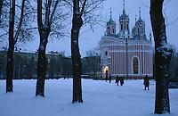 Europe-Asie/Russie/Saint-Petersbourg: Eglise de Tchesma - Architecture néogothique
