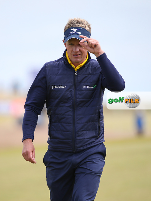 Luke Donald (ENG) during the First Round of the 2016 Aberdeen Asset Management Scottish Open, played at Castle Stuart Golf Club, Inverness, Scotland. 07/07/2016. Picture: David Lloyd   Golffile.<br /> <br /> All photos usage must carry mandatory copyright credit (&copy; Golffile   David Lloyd)