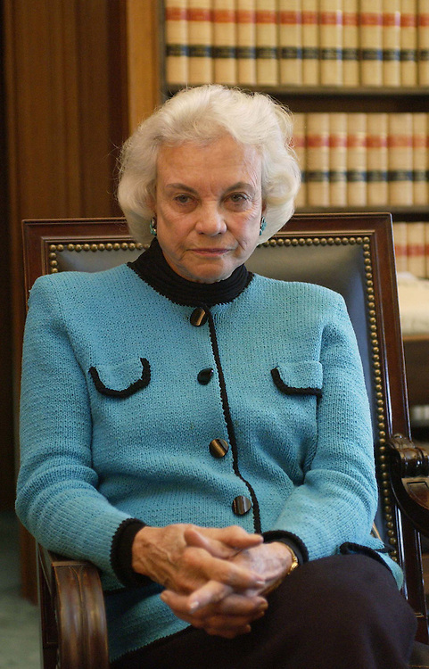03/03/05.U.S. SUPREME COURT JUSTICE SANDRA DAY O'CONNOR--U.S. Supreme Court Justice Sandra Day O'Connor during an interview in her office..CONGRESSIONAL QUARTERLY PHOTO BY SCOTT J. FERRELL