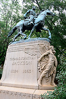 USA, Virginia, Charlottesville, controversial memorial for Thomas Jonathan Jackson 1824-1863, Confederate Army lieutenant general, commander of Second Corps, Army of Northern Virginia