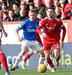 03.03.2019 Aberdeen v Rangers: Dom Ball and Scott Arfield