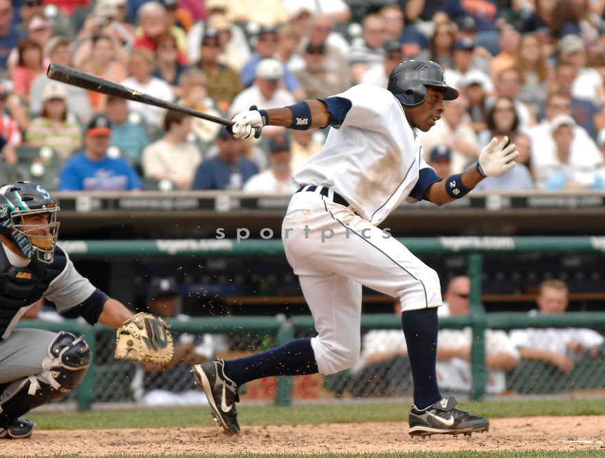 CURTIS GRANDERSON, of the Detroit Tigers , in action during the Tigers game against the Seattle Mariners in Detroit, Michigan, on May 10,  2007...Tigers  win 7-3...DAVID DUROCHIK / SPORTPICS..
