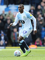 Blackburn Rovers' Amari'i Bell<br /> <br /> Photographer Rich Linley/CameraSport<br /> <br /> The EFL Sky Bet Championship - Blackburn Rovers v Preston North End - Saturday 9th March 2019 - Ewood Park - Blackburn<br /> <br /> World Copyright © 2019 CameraSport. All rights reserved. 43 Linden Ave. Countesthorpe. Leicester. England. LE8 5PG - Tel: +44 (0) 116 277 4147 - admin@camerasport.com - www.camerasport.com