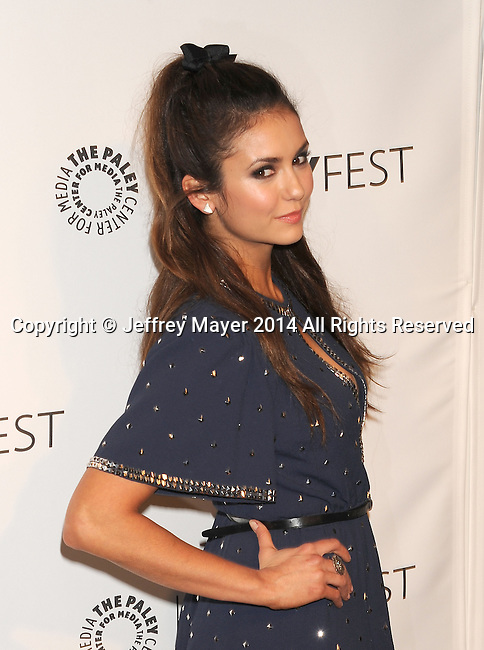 HOLLYWOOD, CA- MARCH 22: Actress Nina Dobrev attends the 2014 PaleyFest - 'The Vampire Diaries' & 'The Originals' held at Dolby Theatre on March 21, 2014 in Hollywood, California.