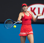 Maria Sharapova (RUS) defeats Eugenie Bouchard (CAN) 6-3, 6-2 at the Australian Open being played at Melbourne Park in Melbourne, Australia on January 27, 2015