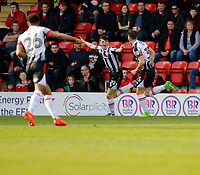 GOAL - Grimsby Town's Sam Jones wheels away after scoring during the Sky Bet League 2 match between Leyton Orient and Grimsby Town at the Matchroom Stadium, London, England on 11 March 2017. Photo by Carlton Myrie / PRiME Media Images.