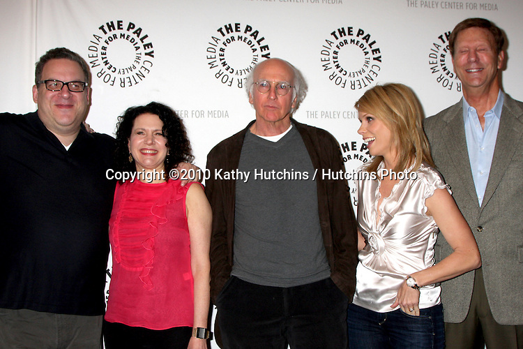"""Jeff Garlin, Susie Essman, Larry David, Cheryl Hines, and Bob Einstein.arrives at the """"Curb Your Enthusiam """" PaleyFEST Event.Saban Theater.Los Angeles, CA.March 14, 2010.©2010 Kathy Hutchins / Hutchins Photo...."""
