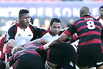 Poaloi Taula & John Fonokalafi prepare to pack down in a scrum during the Ranfurly Shield challenge against Canterbury at Jade Stadium on the 10th of September 2006. Canterbury won 32 - 16.