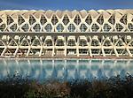 Valencia-Spain, January 08, 2018; <br /> Ciudad de las Artes y Ciencias; museo de las ciencias; architecture;<br /> Photo © HorstWagner.eu