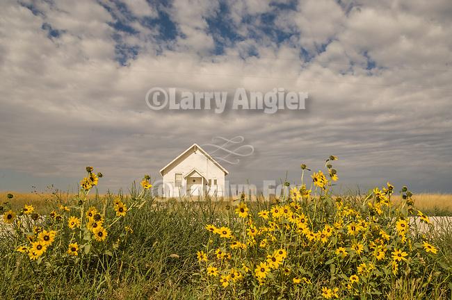 One room school house, unused, in the Sand Hills of Nebraska near Gordon.