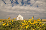One room school house, unused, in the Sand Hills of Nebraska near Gordon.