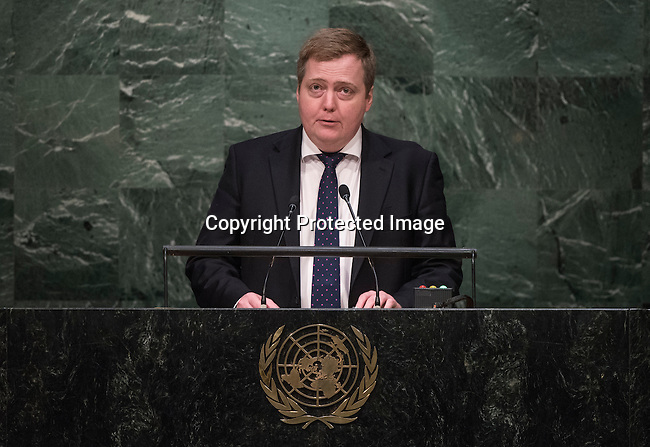 His Excellency Sigmundur Davi&eth; Gunnlaugsson, Prime Minister of the Republic of Iceland<br /> <br /> 6th plenary meeting High-level plenary meeting of the General Assembly (3rd meeting)