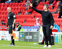 Fleetwood Town manager Joey Barton shouts instructions to his team from the touchline <br /> <br /> Photographer David Shipman/CameraSport<br /> <br /> The EFL Sky Bet League One - Doncaster Rovers v Fleetwood Town - Saturday 6th October 2018 - Keepmoat Stadium - Doncaster<br /> <br /> World Copyright © 2018 CameraSport. All rights reserved. 43 Linden Ave. Countesthorpe. Leicester. England. LE8 5PG - Tel: +44 (0) 116 277 4147 - admin@camerasport.com - www.camerasport.com