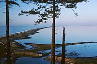 Dungeness Spit is a 5.5 mile (8.9 km) long sand spit jutting out into the Strait of Juan De Fuca, Dungeness National Wildlife Refuge, Washington.