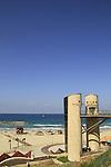 Israel, Sharon region, the Beach Promenade in Herzliya