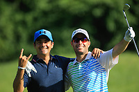 Mark Tullo (CHI) and Felipe Aguilar (CHI) during the final round of the Shot Clock Masters played at Diamond Country Club, Atzenbrugg, Vienna, Austria. 10/06/2018<br /> Picture: Golffile | Phil Inglis<br /> <br /> All photo usage must carry mandatory copyright credit (&copy; Golffile | Phil Inglis)