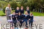 Wk35 Glenbeigh National School Junior Infants with their teacher Zoe O'Shea<br /> Front L-R Seamus, Hazel, Katie & Timmy<br /> Back L-R Thomas, Ryan & Sean