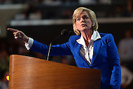 September 6, 2012  (Charlotte, North Carolina) Former Michigan Governor Jennifer Granholm roused the delegates at the 2012 Democratic National Convention in Charlotte.   (Photo by Don Baxter/Media Images International)