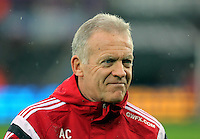 Swansea interim manager Alan Curtis during the Barclays Premier League match between Swansea City and Crystal Palace at the Liberty Stadium, Swansea on February 06 2016