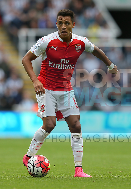 Alexis Sanchez of Arsenal - English Premier League - Newcastle Utd v Arsenal - St James' Park Stadium - Newcastle - England - 28th August 2015 - Picture Simon Bellis/Sportimage