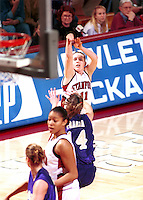 STANFORD, CA - FEBRUARY 26: Jamie Carey of the Stanford Cardinal during Stanford's 78-73 win over the Washington Huskies on February 26, 2000 at Maples Pavilion in Stanford, California.