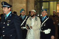 APR 7 , 2006 Milan : trial against OSMAN RABEI (also known as Mohammed the Egyptian) alleged ringleader of the terrorist attack to the trains in Madrid...7 APR 2006 Milano : processo ad OSMAN RABEI (alias Mohammed l'egiziano) ritenuto una delle menti delle stragi di Madrid